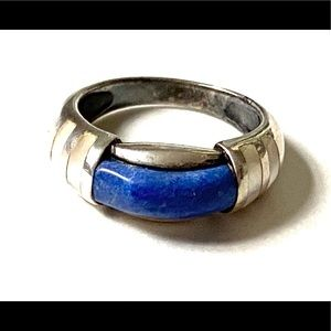 Lapis MOP Sterling Silver Ring 925